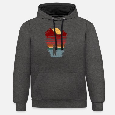 Fly fishing heart rate - Unisex Contrast Hoodie