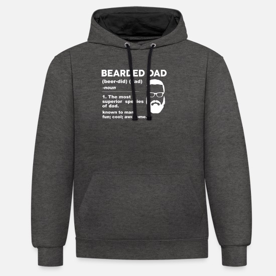 Gift Idea Hoodies & Sweatshirts - Father Bart - Unisex Contrast Hoodie charcoal/black