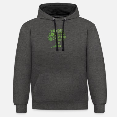 Forest And Into The Forest I Go To Lose My Mind - Unisex Contrast Hoodie