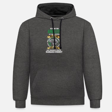 I am an angler gift idea - Unisex Contrast Hoodie