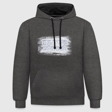 I love mom in the snow - Contrast Colour Hoodie