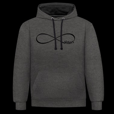 Infinity sisters infinity sisters friends - Contrast Colour Hoodie