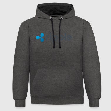 ripple - Contrast Colour Hoodie