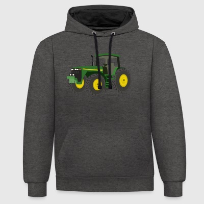 tracteur - Sweat-shirt contraste