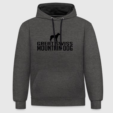 GREAT SWISS MOUNTAIN DOG Hunderasse - Kontrast-Hoodie