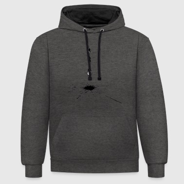 ink drop - Contrast Colour Hoodie