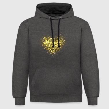 Glitter Coeur d'or - Sweat-shirt contraste