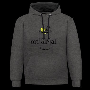oriGINal (GIN Tonic) - Contrast Colour Hoodie