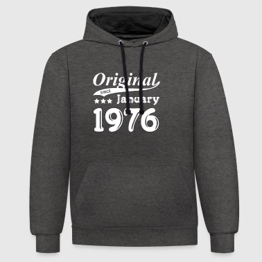 Original Since January 1976 gift - Contrast Colour Hoodie