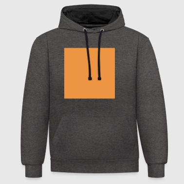 carré orange - Sweat-shirt contraste