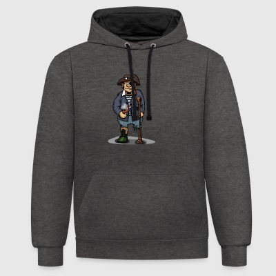 pirate - Contrast Colour Hoodie