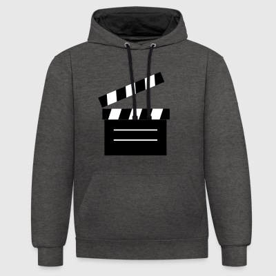 2541614 11414149 Filmklappe - Sweat-shirt contraste