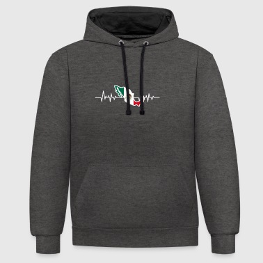 Mexico flag - Contrast Colour Hoodie
