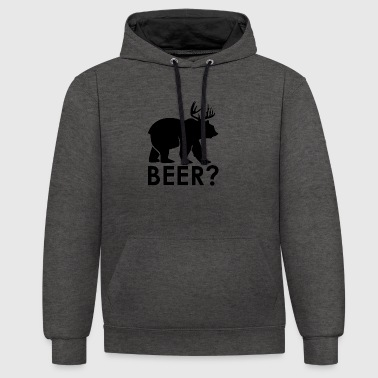 La bière? - Sweat-shirt contraste