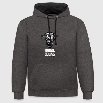 tribal squad - Contrast Colour Hoodie