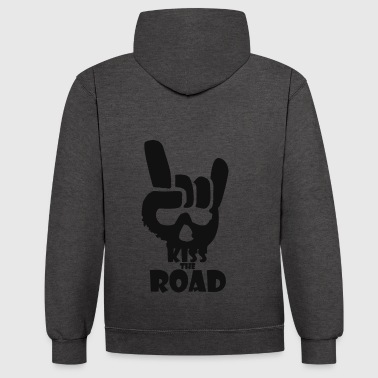 kiss road - Sweat-shirt contraste