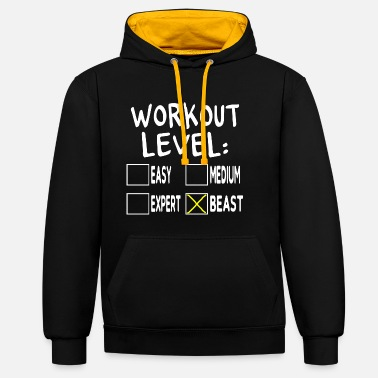 Strongman Workout Level Beast - Contrast Colour Hoodie