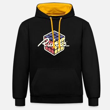 Rubik's Cube Rétro Design - Sweat-shirt contraste