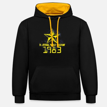 1983 Cadeau d'anniversaire Born Star 1983 - Sweat-shirt contraste