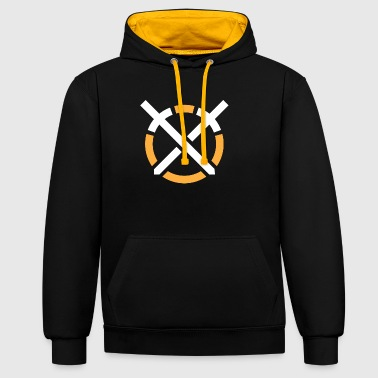 Art of Combat symbol on dark background - Contrast Colour Hoodie