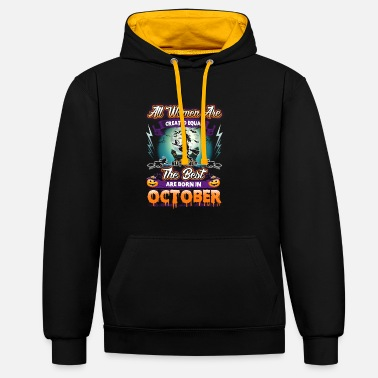 October October - Contrast Colour Hoodie