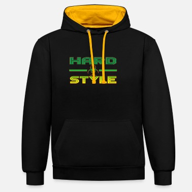 Jumpstyle Hardstyle Jumpstyle Rave - Unisex Contrast Hoodie