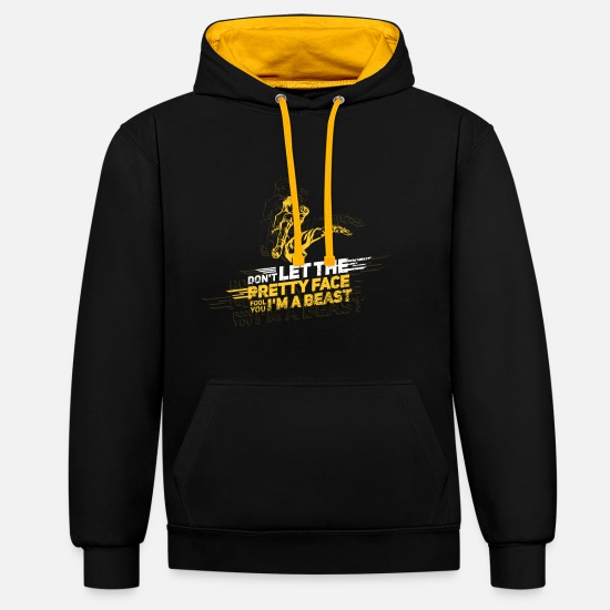 "Do Hoodies & Sweatshirts - Tae kwon do ""Beast"" T-Shirt - Unisex Contrast Hoodie black/gold"