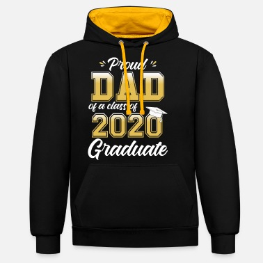 Proud Proud Dad of a Class of 2020 Graduate - Unisex Contrast Hoodie