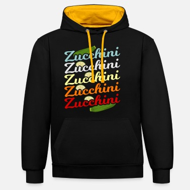 Salad Zucchini green plants gift idea - Unisex Contrast Hoodie