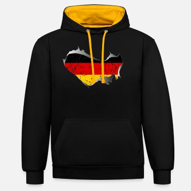 Torn Apart Germany, Germany, torn, torn up - Unisex Contrast Hoodie