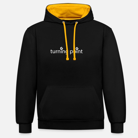 Love Hoodies & Sweatshirts - Turning Point Turning Point - Unisex Contrast Hoodie black/gold