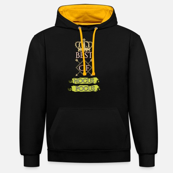 Easter Bunny Hoodies & Sweatshirts - Best of hocus pocus - Unisex Contrast Hoodie black/gold
