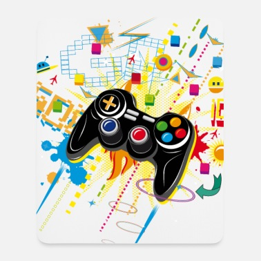 Gamepad Video Games - Tapis de souris (format portrait)