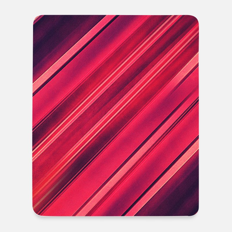 3d Alfombrillas de ratón  - Abstract minimal texture (red/black) - Phone case - Alfombrilla de ratón blanco