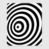 Minimum Geometry Illusion in Black & White(OP-Art) - Mouse Pad (vertical)