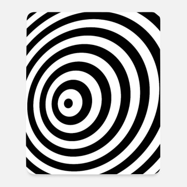 Minimum Minimum Geometry Illusion in Black & White(OP-Art) - Mousepad (højformat)