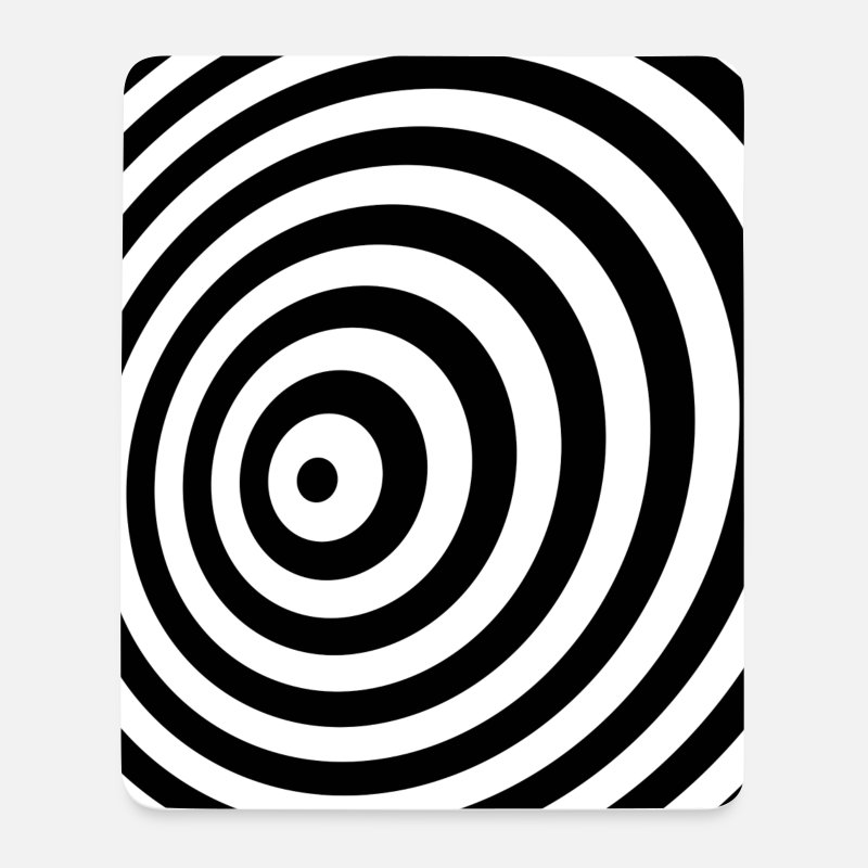 Cool Mouse pads  - Minimum Geometry Illusion in Black & White(OP-Art) - Mouse Pad white