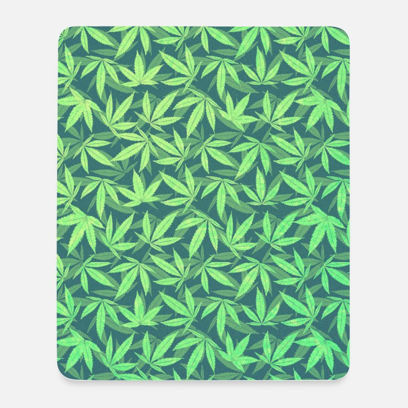 Nice Stuff Mouse pads  - Cannabis / Weed / Marijuana - Pattern (Phone Case) - Mouse Pad white