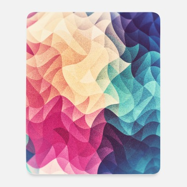 Abstract low poly color pattern design (spectrum) - Mouse Pad