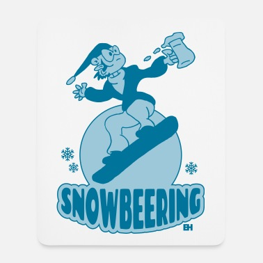 Snowbeering or snowboarding - Mouse Pad (vertical)