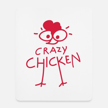 Crazy Chicken (b) - Alfombrilla de ratón (vertical)