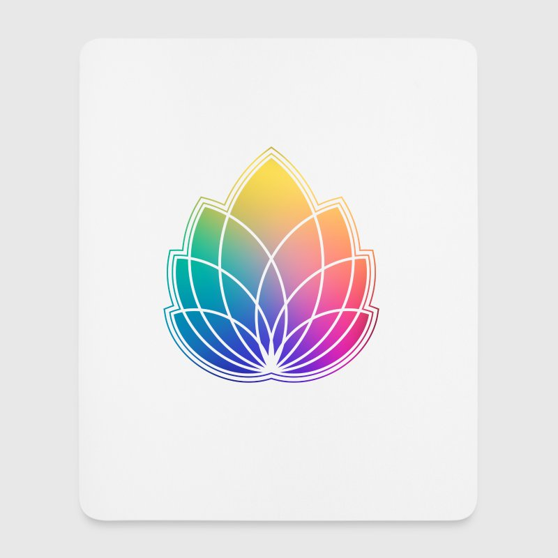 Colorful Abstract Yoga Geometry Blossom / Flower - Mouse Pad (vertical)