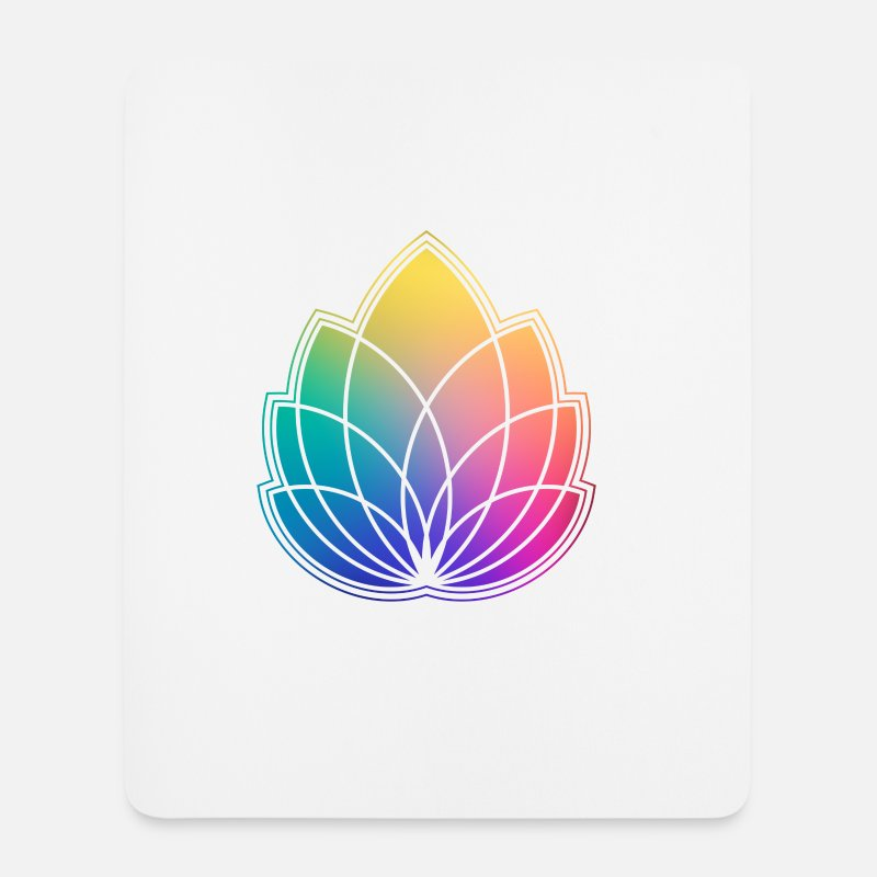 Psichedelico Tappetini mouse  - Colorful Abstract Yoga Geometry Blossom / Flower - Tappetino mouse bianco