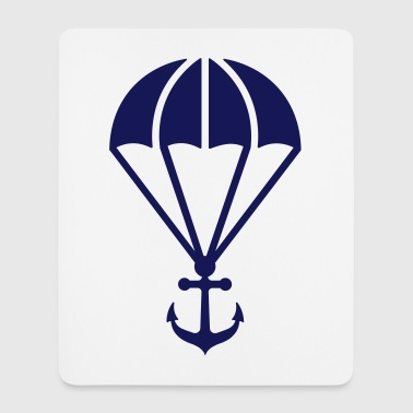 Parachute with anchor - Mousepad (Hochformat)