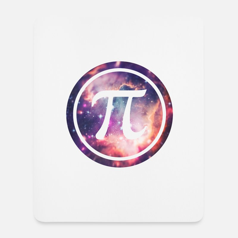 Cool Mouse pads  - PI - Universum / Space / Galaxy  Nerd & Geek Style - Mouse Pad white