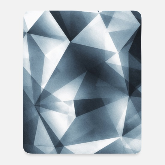 Abstract Mouse Pads - Abstract triangle / geometry (silver) - Phone Case - Mouse Pad white