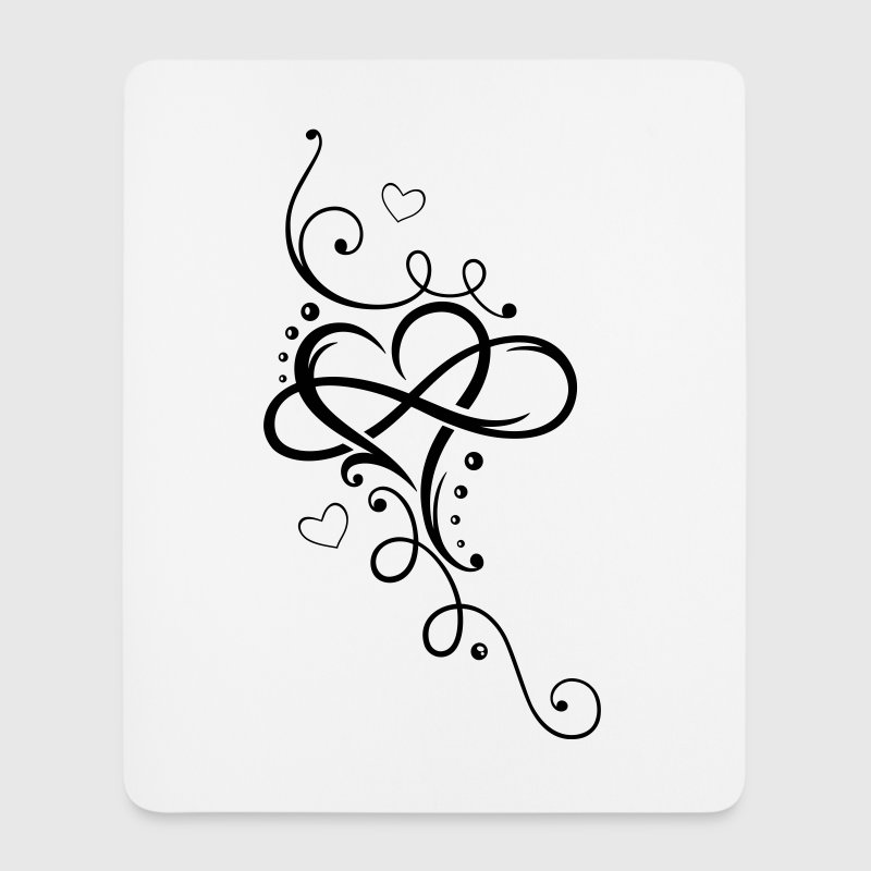 Tribal Heart with large infinity loop - Mouse Pad (vertical)