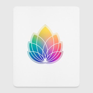 Colorful Abstract Yoga Geometry Blossom / Flower - Mousepad (højformat)