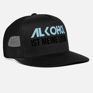 Solution L'alcool est ma solution - Casquette trucker