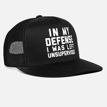 Offensive Left Unsupervised Funny Quote - Trucker Cap